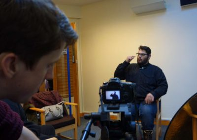 Giles Bowman, Deaf film maker, made two short films with the DDYC