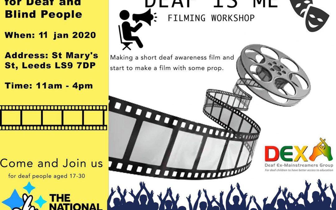 Deaf Is Me Filming Workshop